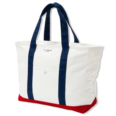 TOTE BAG[WHT/NVY] - 1LDK|ONLINE STORE