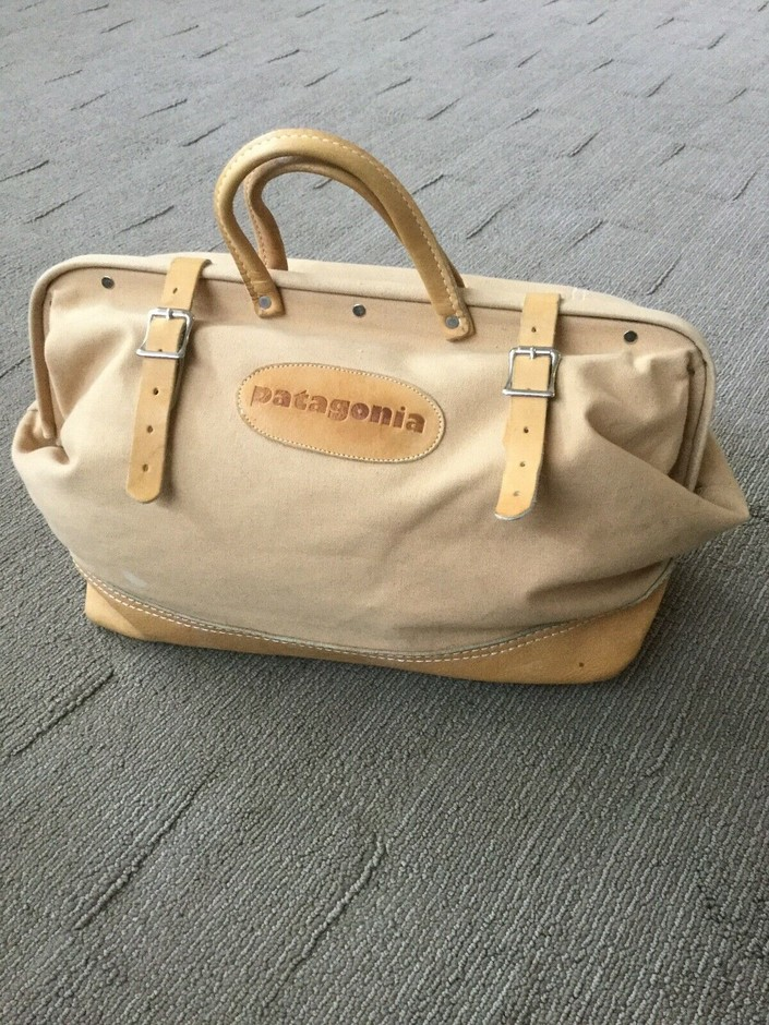Vintage Canvas and Leather Patagonia Bag | eBay