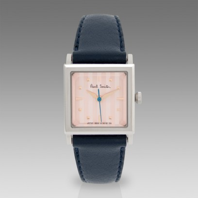 Paul Smith Watches | Navy & Pink Cube Watch
