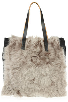 Marni? ?Shearling and wool tote? ?NET-A-PORTER.COM