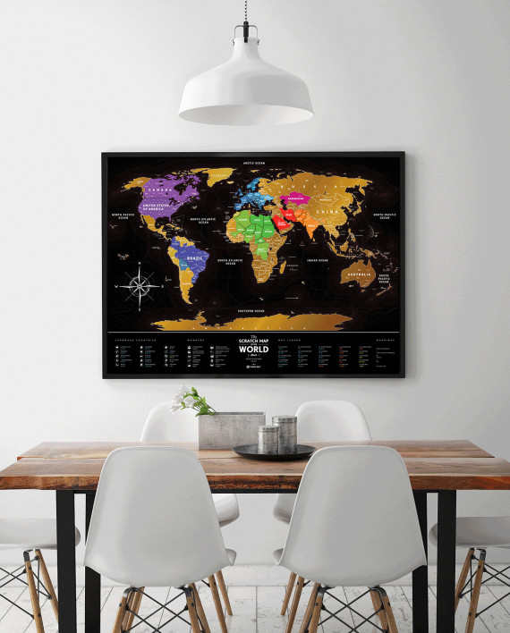 Scratch Map Black - scratch countries you've been to