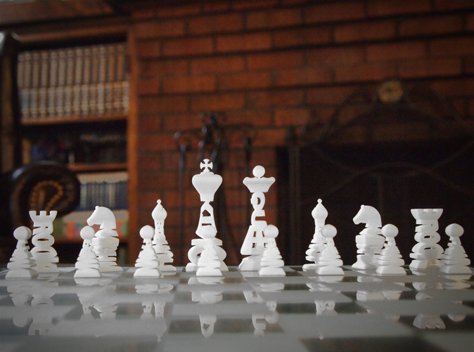 Typographical Chess Set by OneSaveSolutions on Shapeways