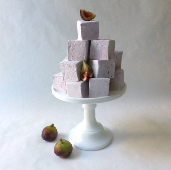 Purple Fig Marshmallows 1 Dozen by sweetniks on Etsy