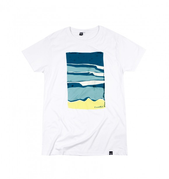 White tee for men to be trendy - Sky Surf View - COONTAK   Exlusively at GRAFITEE