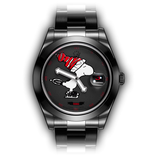 Bamford Watch Department – Customised Luxury Watches – Black Rolex MGTC – BWD x The Rodnik Band – Black MGTC 'Skating Snoopy'