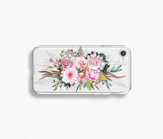 Spring Floral iPhone 8 Case Clear iPhone 8 Plus Case Floral