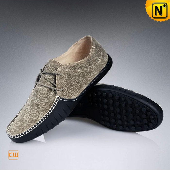 Mens Leather Driving Moccasin Shoes CW740100