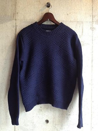 PLAIN HAND KNITTED PULLOVER WOOL