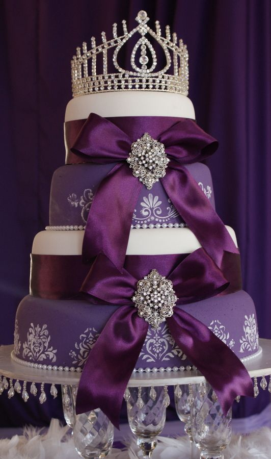 Wedding Cakes / Royal Purple 4 tiered cake