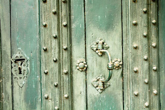 Mint Green Doors in Southern France 8x10 Fine by rebeccaplotnick