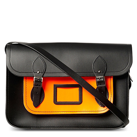 "Contrast-colour satchel 14"" - THE CAMBRIDGE SATCHEL COMPANY - EXCLUSIVE TO SELFRIDGES - Menswear 