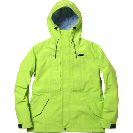 Supreme: Pin Dot Shell - Acid Green