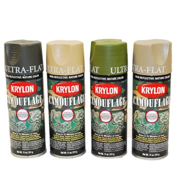 Amazon.co.jp: KRYLON CAMOUFLAGE PAINT 軍用スプレー【船便発送】 (OD): ホビー