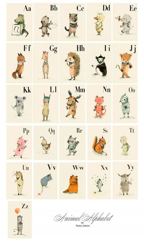 animal alphabet | Art