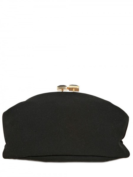Marni Embroidered Double Face Wool Clutch in Black | Lyst