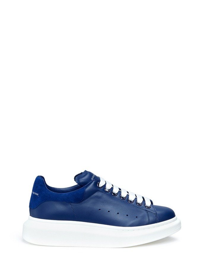 ALEXANDER MCQUEEN - Chunky outsole leather sneakers | Blue Low-Top Sneakers | Womenswear | Lane Crawford - Shop Designer Brands Online