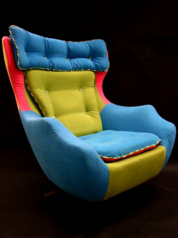 Fred A reupholstered 1960's swivel egg chair by katepritchard
