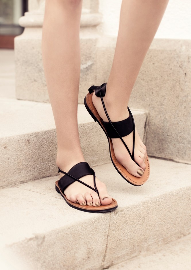 Flat Leather Sandals | Black | & Other Stories