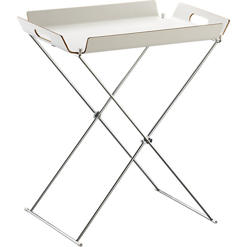 formosa white tray table in view all outdoor   CB2