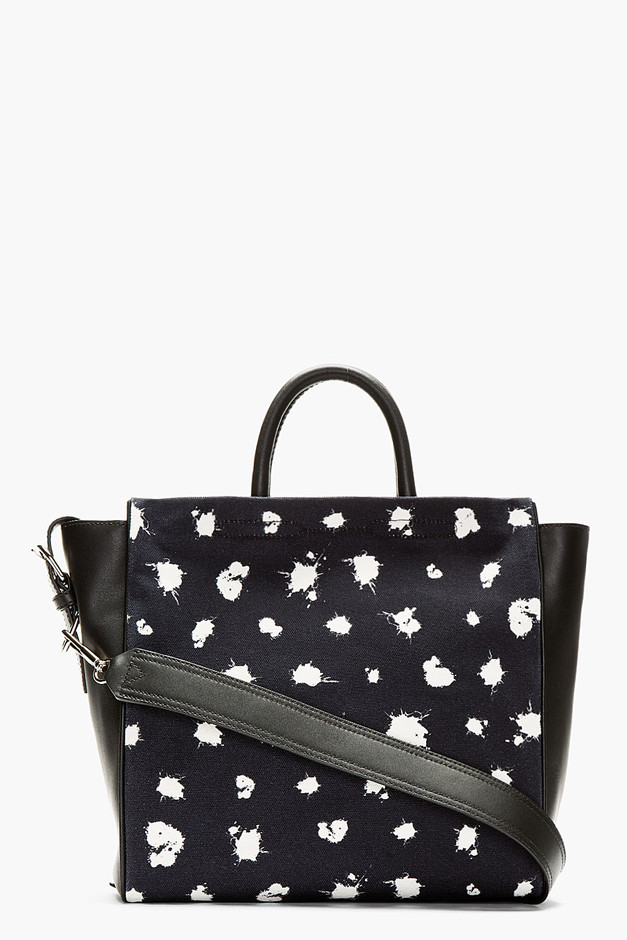 3.1 Phillip Lim Black & Midnight Navy Ryder Square Tote for women | SSENSE