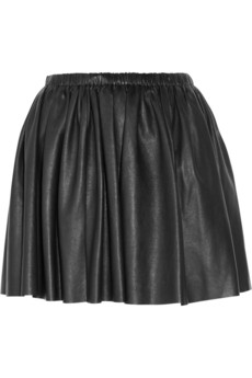 Miu Miu?|?Washed nappa leather mini skirt?|?NET-A-PORTER.COM