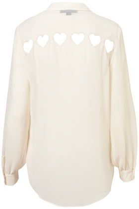 Heart Cutout Back Shirt - Blouses & Shirts - Topshop