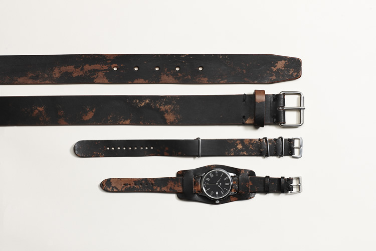 Hand Made Vegetable Leather Belt Camo – FEIT