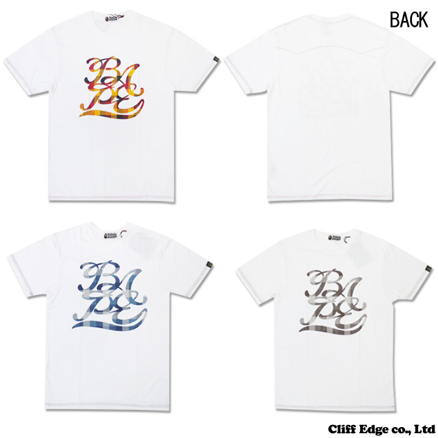 【楽天市場】A BATHING APE BAPE BLOCK CHECK Tシャツ 200-004811-047[1960-109-004]-【新品】:Cliff Edge