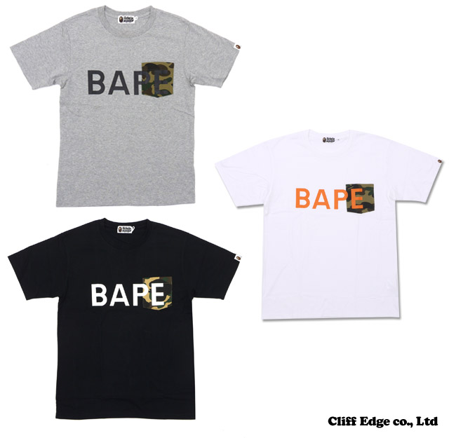 【楽天市場】A BATHING APE 1ST CAMO POCKET BAPE TEE [Tシャツ] 200-005504-051[1080-109-009]-【新品】:Cliff Edge