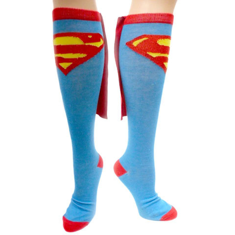 Put a genetically enhanced spring in your step with these fully licensed Superhero Caped Socks, complete with their own glorious capes.