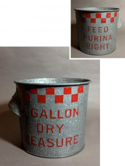 "1930-40's ""CHECKER"" Country Bucket【Excellent Condition】 - FUNNY SUPPLY"