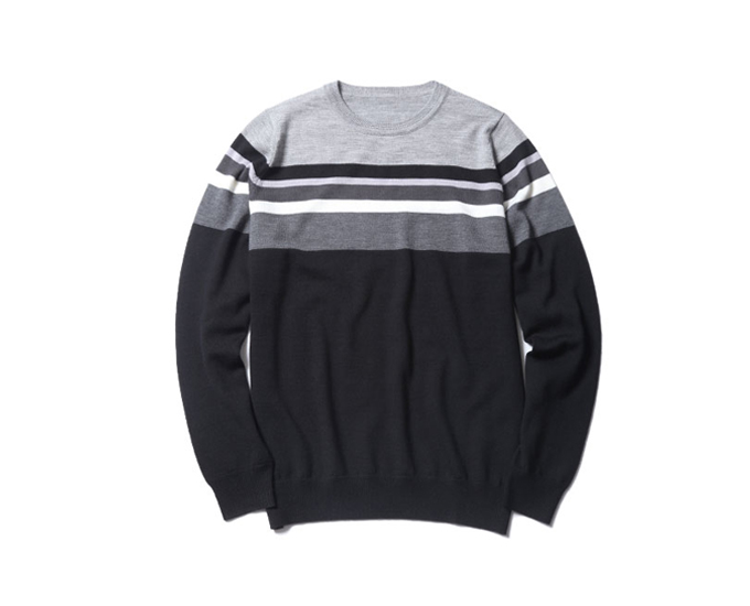 uniform experiment | PRODUCT | COLOR CHART BORDER CREW NECK KNIT