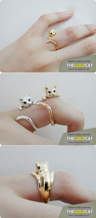 Vegetable Kingdom, microwalrus: [GOLD] Nabi cat ring - Blue ...