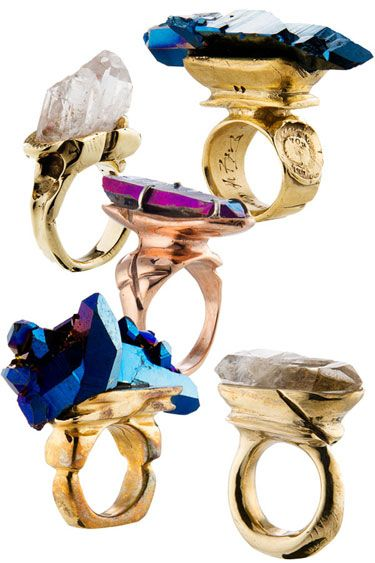 Quartz rings by Andy Lifschutz Jewelry. We'll take one of ...   Jew...