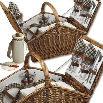Huntsman Picnic Basket for Four - HOME & GIFTS