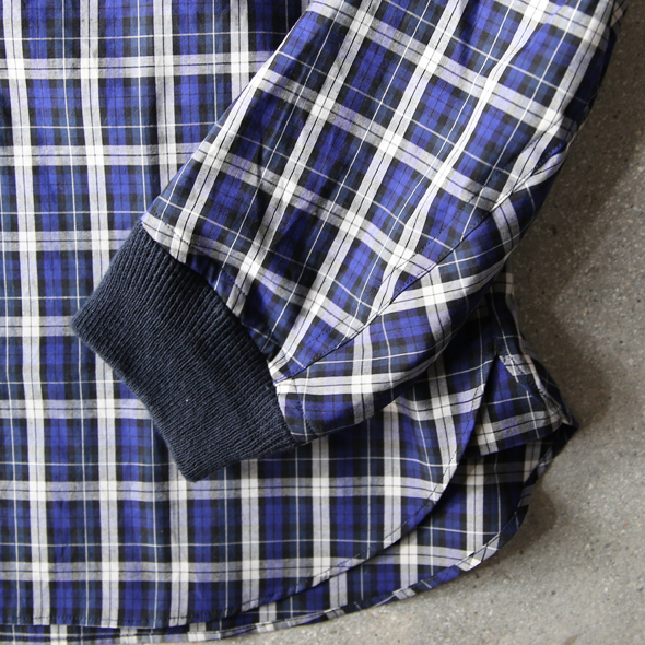 """BLACK & BLUE """"MA-1 ZIPシャツ""""(NAVY CHECK) 商品詳細 THE SUPERIOR LABOR,A VONTADE,CURLY,NICHE,bukht通販サイト 広島県呉市のセレクトショップ"""