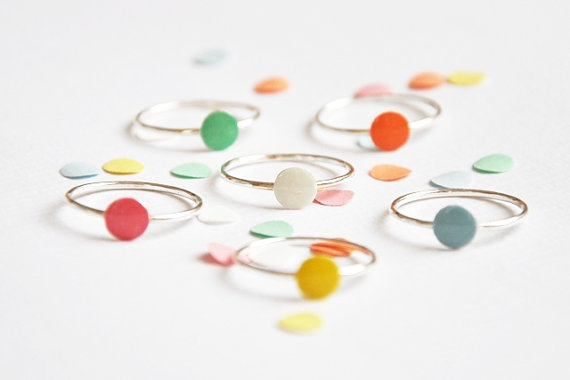 Confetti ring 'you only need one confetti to by Twinklebird