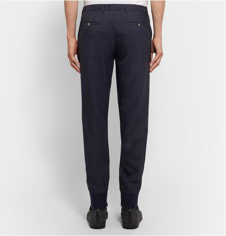 Lanvin - Tapered Zip-Detailed Woven Trousers