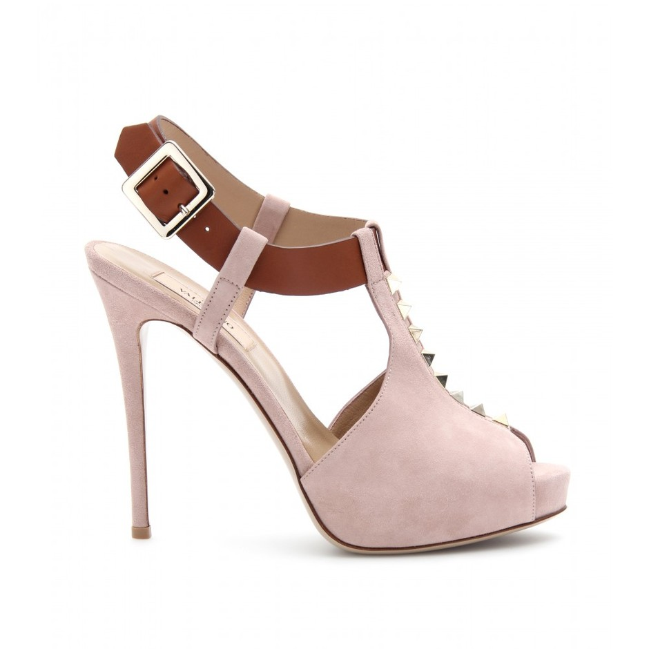mytheresa.com - Valentino - ROCKSTUD SUEDE SANDALS - Luxury Fashion for Women / Designer clothing, shoes, bags