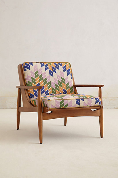 Hanne Checked Armchair - anthropologie.com