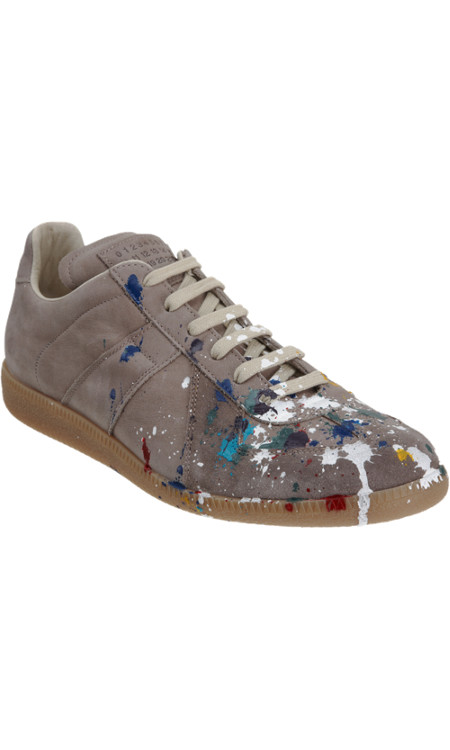 Maison Martin Margiela Paint Splatter Low Top Sneaker