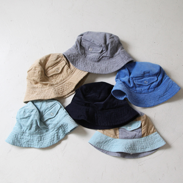 Engineered Garments Floppy Hat - 16w Corduroy - Silver and Gold Online Store