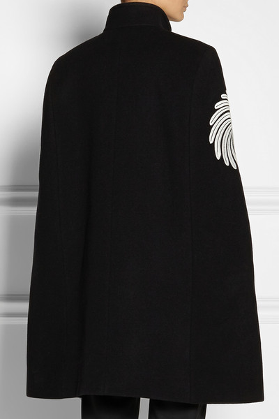 Stella McCartney|Floral-embroidered wool cape|NET-A-PORTER.COM