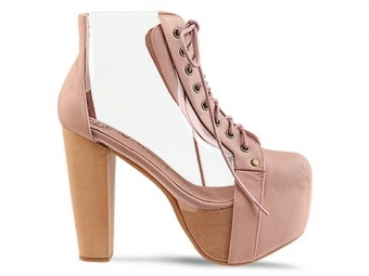 【LASO ラソ】2012NEW COLLECTION☆Jeffrey Campbell☆CLEATA -Nude Clear ジェフリー・キャンベル スプリングブーティー