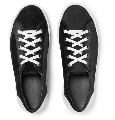 Lanvin - Rubber-Trimmed Suede Sneakers
