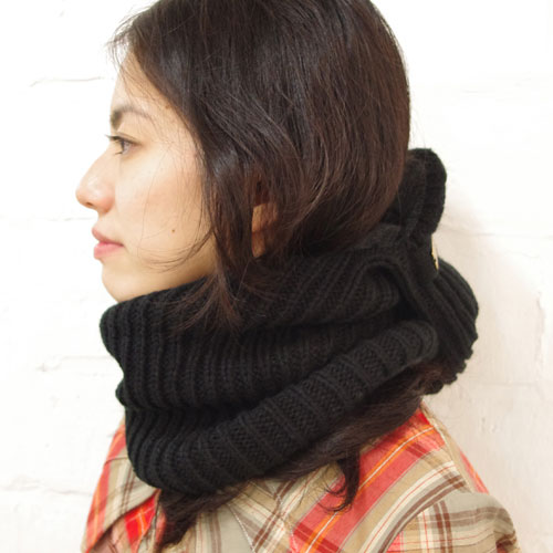 fev/knit Cap With Neck - MOCOSH モコシュ