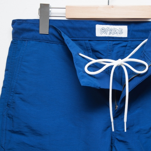 Cotton/Nylon Short Pants - Blue - cup and cone WEB STORE