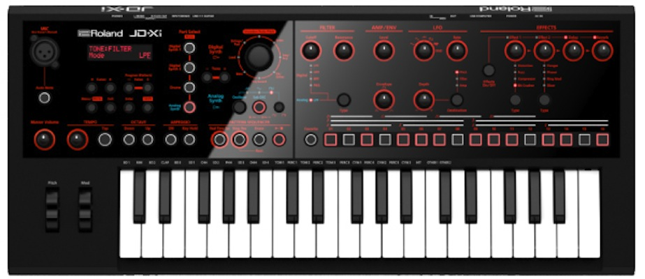 Roland JD-Xi | Interactive Analog/Digital Crossover Synthesizer