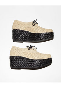 Carven / Braided Wedge Oxford | La Garçonne