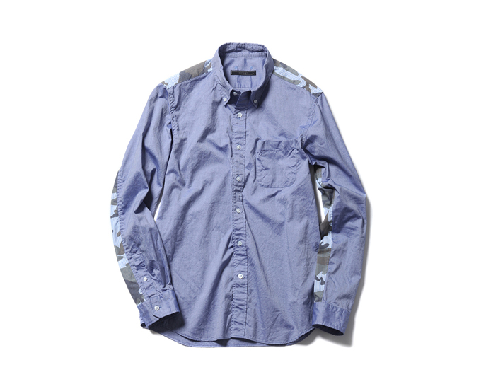 SOPHNET. | PRODUCT | CAMOUFLAGE PANEL B.D SHIRT